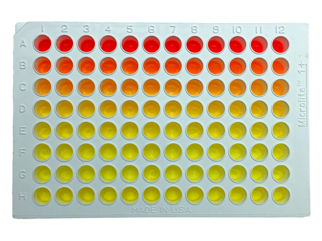 white microplate serial dilution small